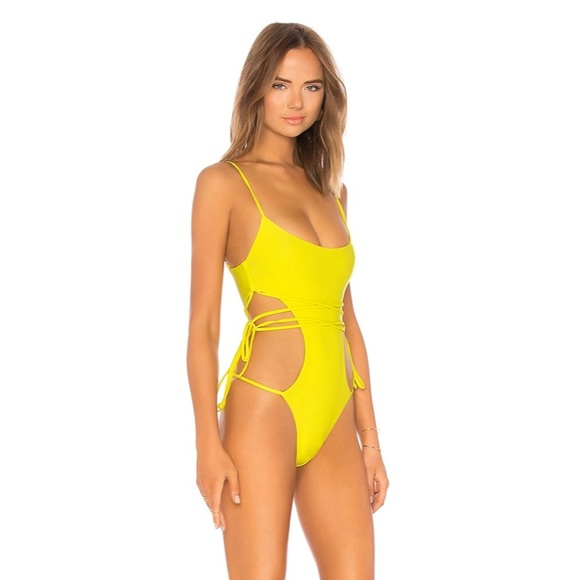 Lovers + Friends Other - TIED UP ONE PIECE IN YELLOW